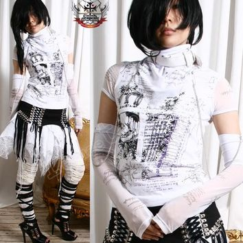 Visual Kei/Jrock/Punk/Goth ANGELIC TOP+WRAP+Glove $54