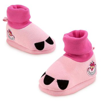 Licensed cool Cheshire Cat Costume BABY Dress Up SHOES SLIPPERS Alice Wonderland Disney Store