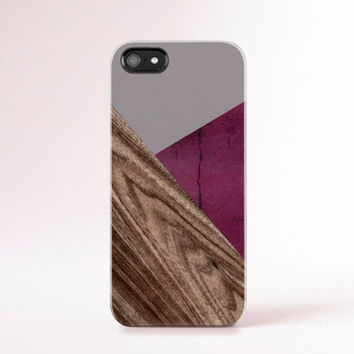 Burgundy iPhone 6 Case iPhone 5 Case Wood Print Geometric Cases iPhone Case Pantone iphone Case Mens iPhone5s Case Color Block