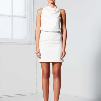 MUNIRIH SHORT DRESS WHITE – WINONA