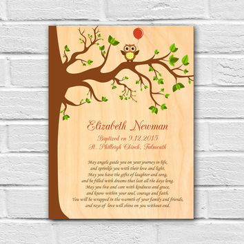 Christening Gift, Personalized Baptism Gift, Godchild Gift, Godson Gift, Goddaughter Gift, Baptism Wall Art, Gift from Godparents, Keepsake
