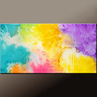 Abstract Canvas Art Painting 36x18 Original Contemporary Paintings by Destiny Womack - dWo - Expressions