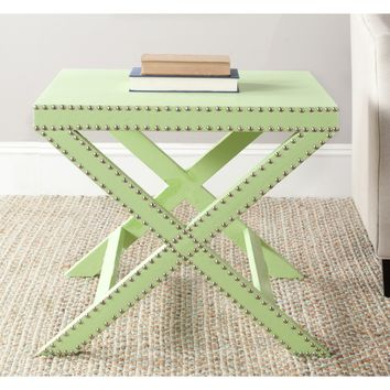 Safavieh Home Collection Jeanine X-End Table, Light Grey