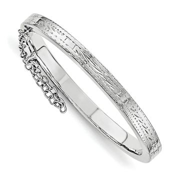 Sterling Silver Just Like Mommy Text. W/safety Hinged Child\'s Bangle