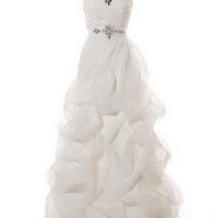 KCW1508 Strapless White Pick Up Skirt Wedding Dress by Kari Chang Eternal