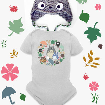Totoro Hat Onesuit Kawaii Beanie My Neighbor Anime Grey Crochet Clothes Hayao Miyazaki Studio Ghibli Baby Shower Gift Infant Newborn Boy Girl