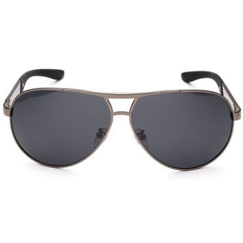 Rounded Sunglasses with Alloy Frame