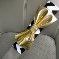 Custom Seatbelt Cover with Matching Bow
