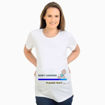 New Design Cute Maternity T-Shirt Funny Pregnancy Tee Funny Baby loading maternity tshirt pregnant women funny maternity tops