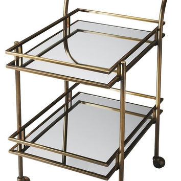 Butler Gatsby Antique Brass Loft Bar Cart 3139226