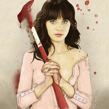 Slaughterhouse Starlets: Zooey Art Print by Keith P. Rein