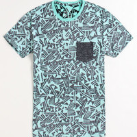 On The Byas Wash Me Print Crew Tee at PacSun.com