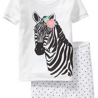 Old Navy Zebra Graphic PJ Sets For Baby