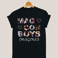 American apparel shirt magcon boys ,magcon boy family, magcon boy photo t shirt mens and woman by KerisPutih Available Size : S,M,L,XL,XXL