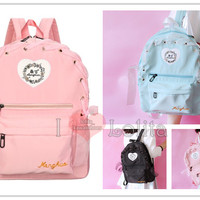 3 Colors Kawaii Sweet Heart Lace Backpack LK17040725 from lolita store