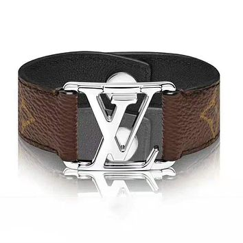 LV Louis Vuitton Hot Sale Women Men Fashion Retro Bracelet Hand Catenary Jewelry Accessories