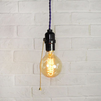 Edison Bulb Pendant Light - E27 Globe Squirrel-Cage Filament Bulb - DIY lamp set - ceiling lamp - edison bulb-110V & 220V - vintage style