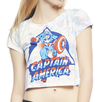Captain America Crop Tee | Wet Seal