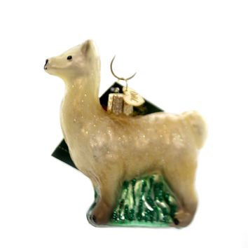 Old World Christmas LLAMA Glass Pack Animal Curious Gentle 12284