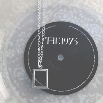 The 1975 Silver Chain Rectangle Necklace