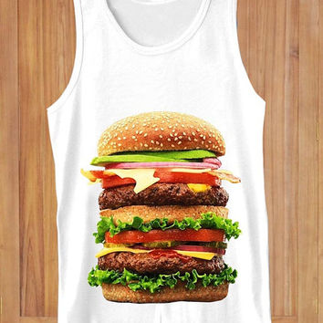 Burger #2 food  design clothing lives for Tank Top Mens and Tank Top Girls