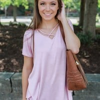 Swept Away Tee - Blush