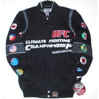 UFC Cotton Twill Jacket Ultimate Fighting Championship Black