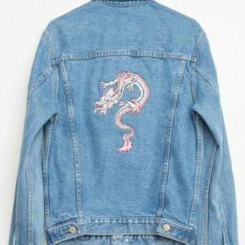 AMARA PINK DRAGON DENIM JACKET