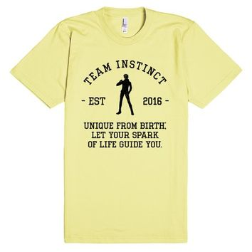Team Instinct Motto Pokemon Go Athletic Shirt