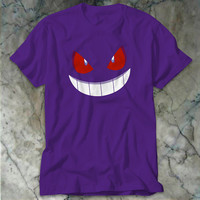 Pokemon Gengar T-Shirt, Pokemon Character Men's T-Shirt {Available a Variety of Colors}