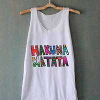 Hakuna Matata Colorful for tank top mens and tank top girls
