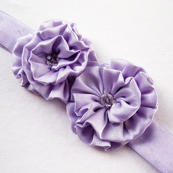 Blooming Lilacs Silk Headband / Belt / Choker