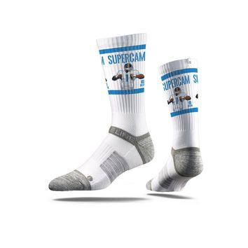NFLPA - Cam Newton - Supercam, White - Strideline Crew Socks