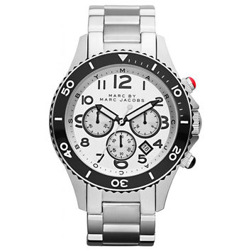 Marc by Marc Jacobs MBM5027 Men's Rock Chrono Silver Dial Stainless Steel Watch