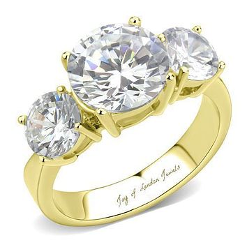 A Perfect 3CT Three Stone Journey Russian Lab Diamond Promise Engagement Anniversary Wedding Ring