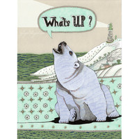 What's Up Bear print illustration drawing polar by YuliyaArt