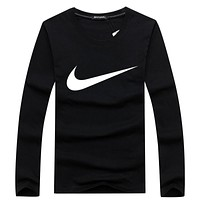 NIKE 2018 new classic logo pattern round neck pullover sweater F-A000-PPNZ Black