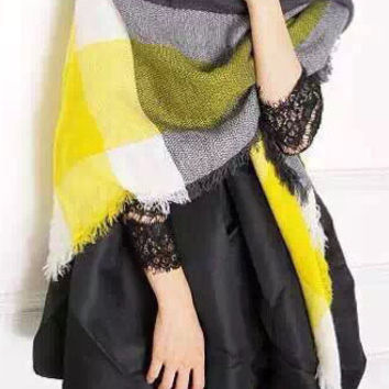 Yellow Fringed Scarf