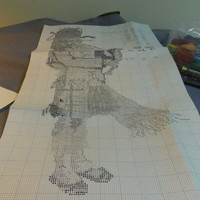 Needlepoint Kit, Scottish Bagpiper, Private Copyright Pattern WIth Wool and Mesh