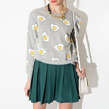 Poached Egg Womens Fashion Pullover Sweatshirt