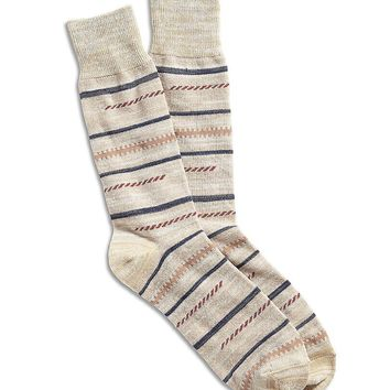 Lucky Brand Abstract Lines Crew Sock Mens