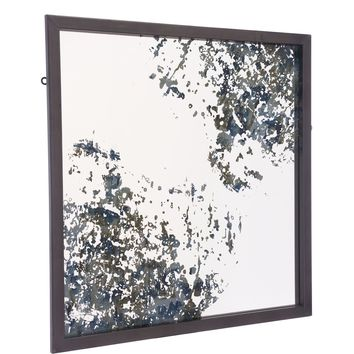 Antique Blue Square Wall Mirror