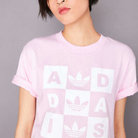 adidas Originals + UO Checker Tee - Urban Outfitters