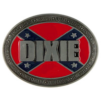 Dixie Rebel Flag Belt Buckle