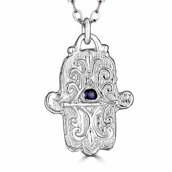 Hamsa Necklace-Sterling Silver