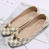 LV women's fashion shoes F-KSPJ-BBDL Beige