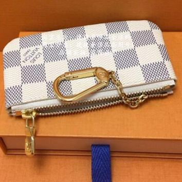 Louis Vuitton Trending Print Monogram Canvas Key Pouch M62650 White G