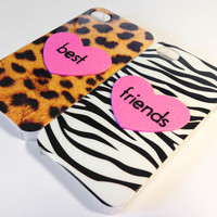 Best Friends iPhone 4/4S cases - Cheetah & Zebra