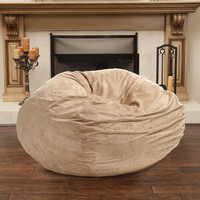 Waldo Tuscany Tan Faux Suede 5 Feet Bean Bag