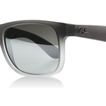 New Authentic Ray-Ban Justin Sunglasses RB 4165 852/88 51mm Sml Transparent Grey